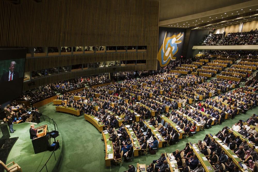 Дональд Трамп на выступлении ООН