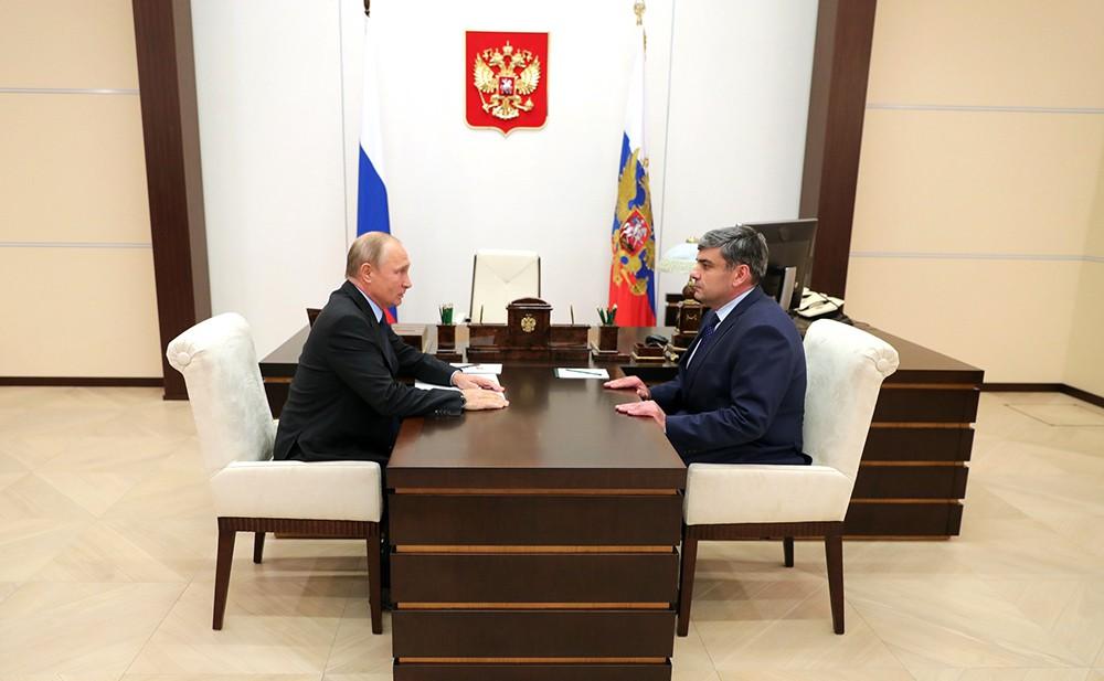 Владимир Путин и Казбек Коков
