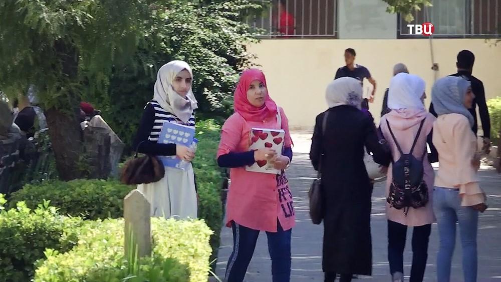Студенты университета в Сирии