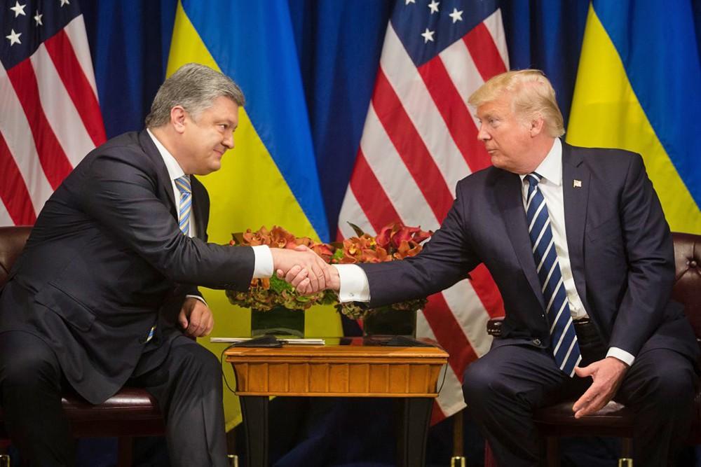 Дональд Трамп и Пётр Порошенко