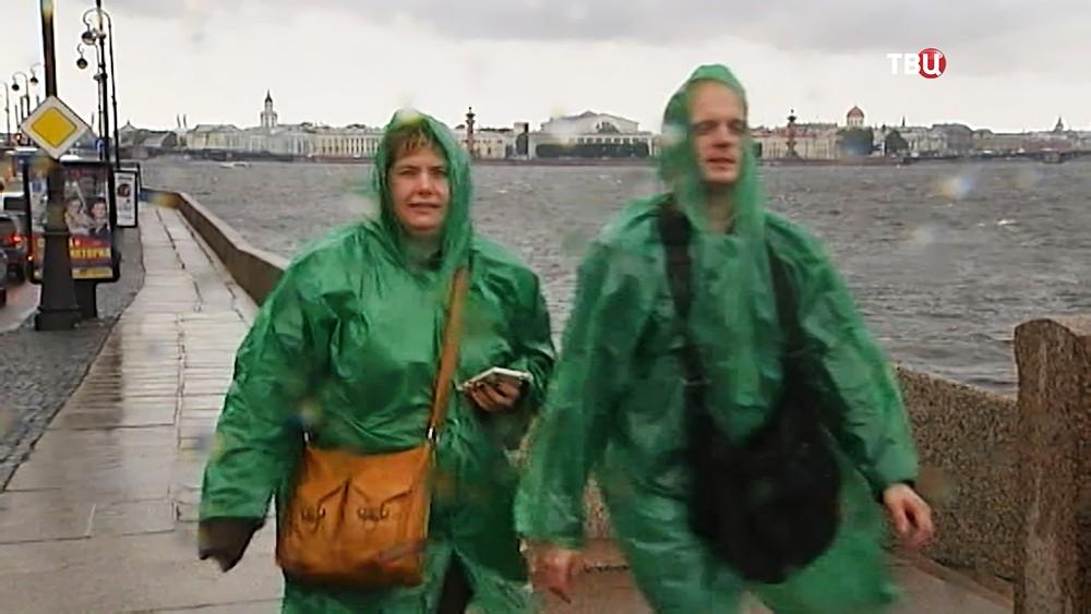 Штормовой ветер в Санкт-Петербурге