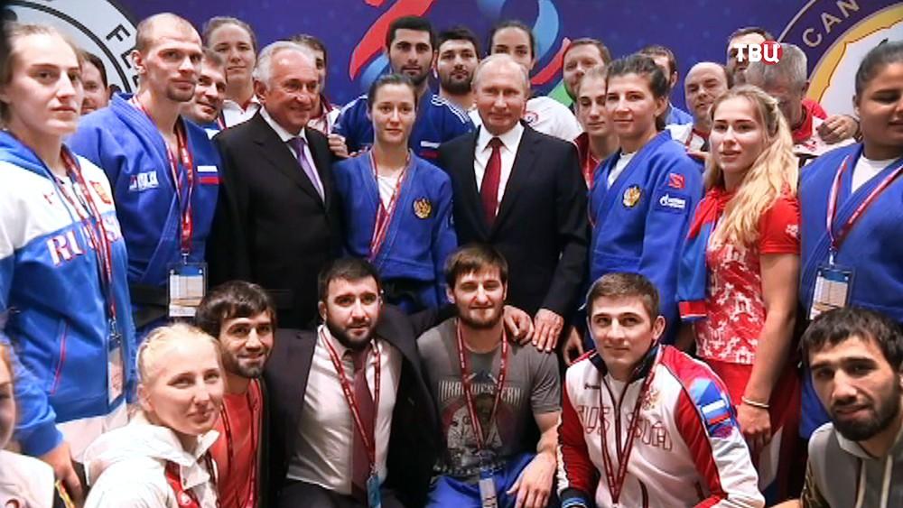 Владимир Путин посетил чемпионат мира по дзюдо в Баку