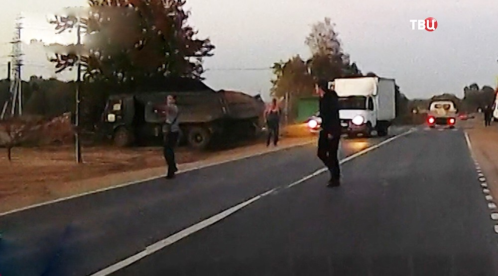 Стрельба на дороге в Подмосковье