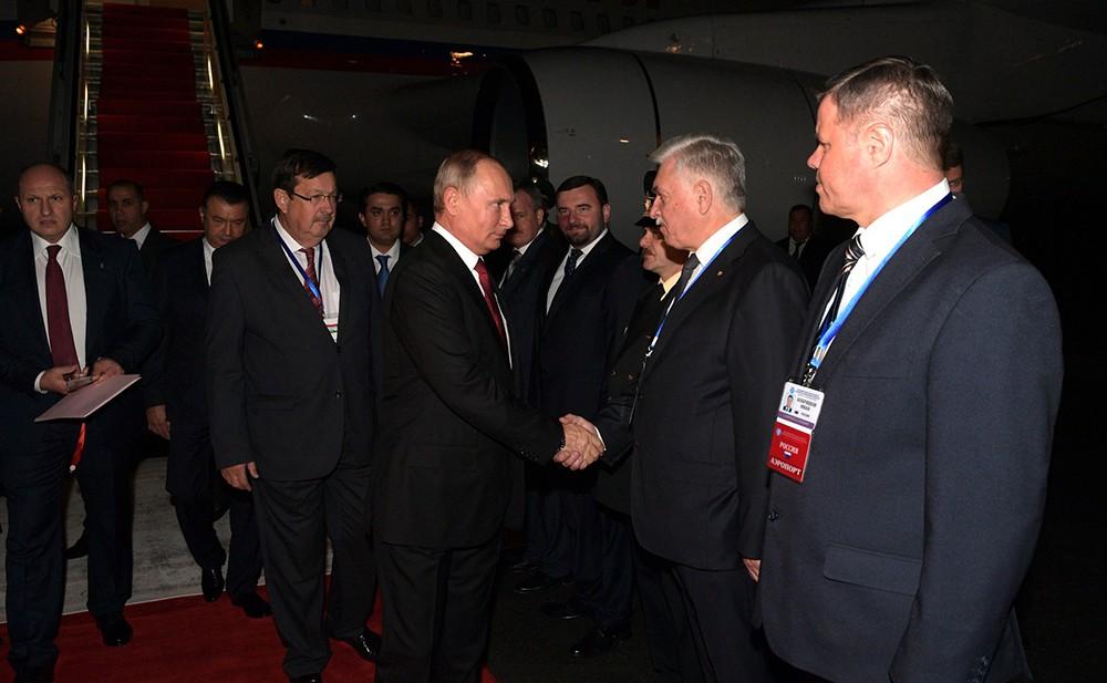Владимир Путин в Душанбе