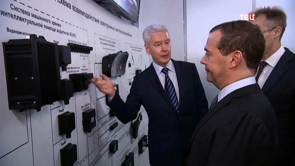 Сергей Собянин и Дмитрий Медведев