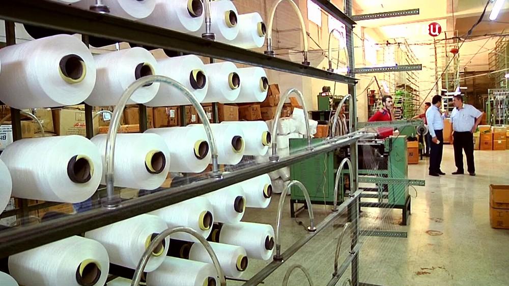 Ткацкое производство в Сирии