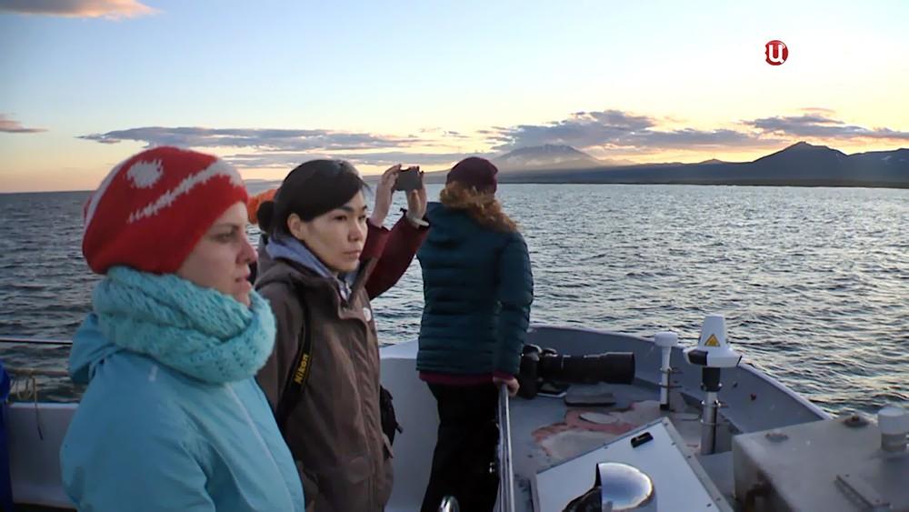 Туристы на Камчатке