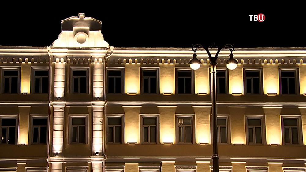 Художественная подсветка фасадов домов