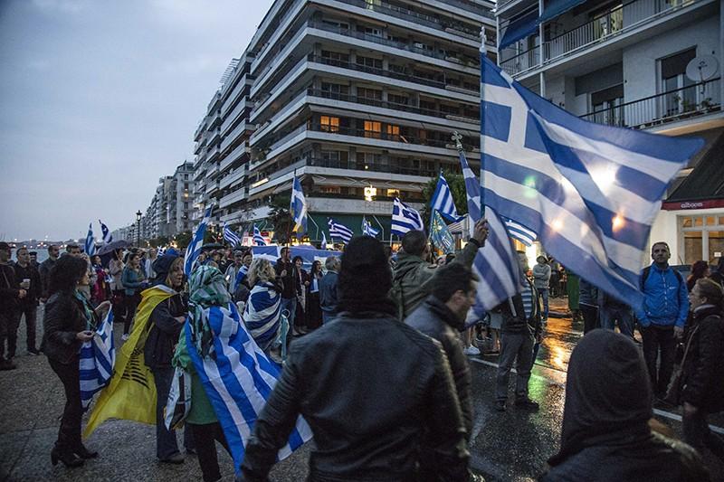 Протесты против переименовании страны на Северную Македонию