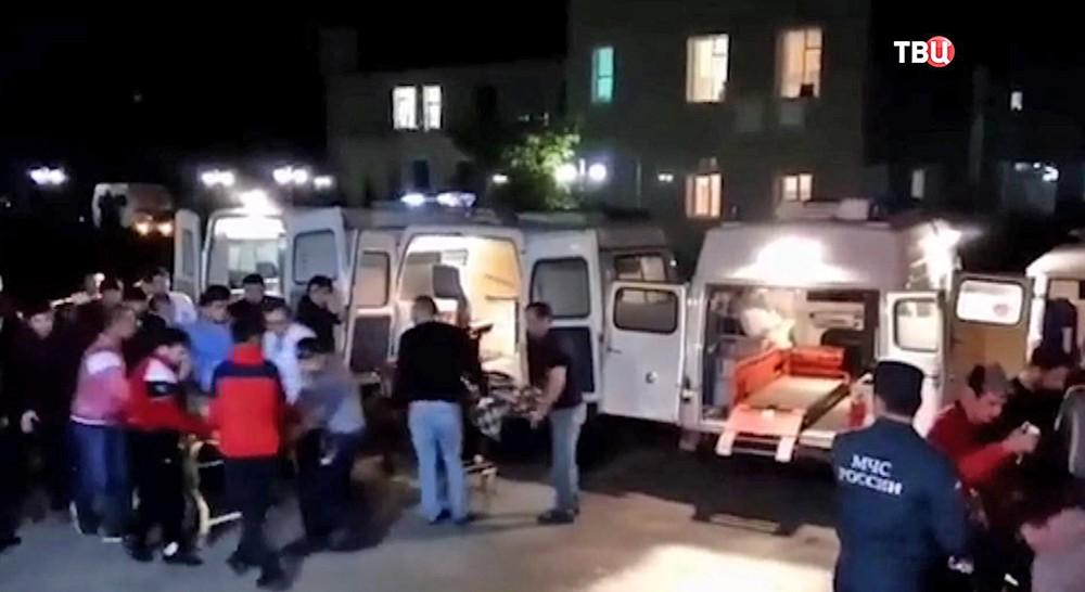 Взрыв в школе в Дагестане