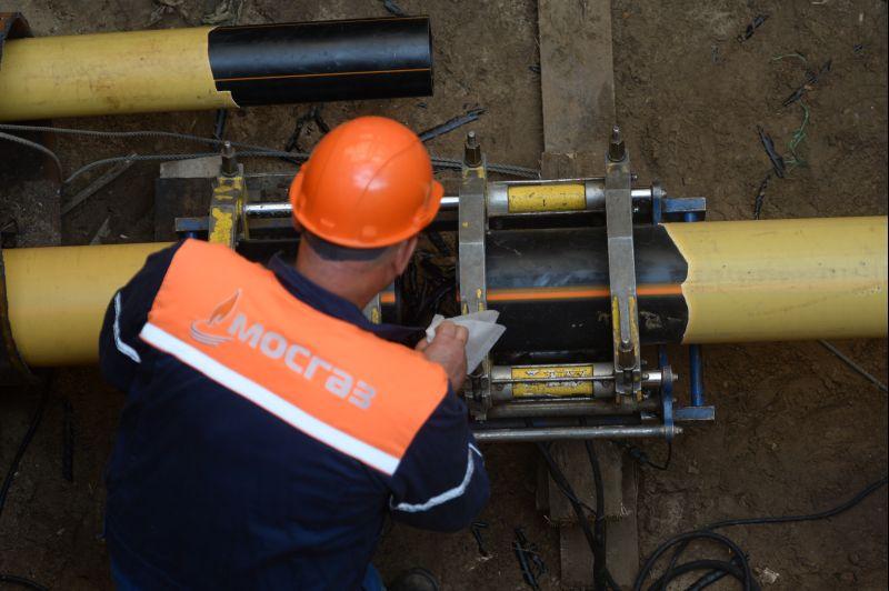 Работы по замене газопровода