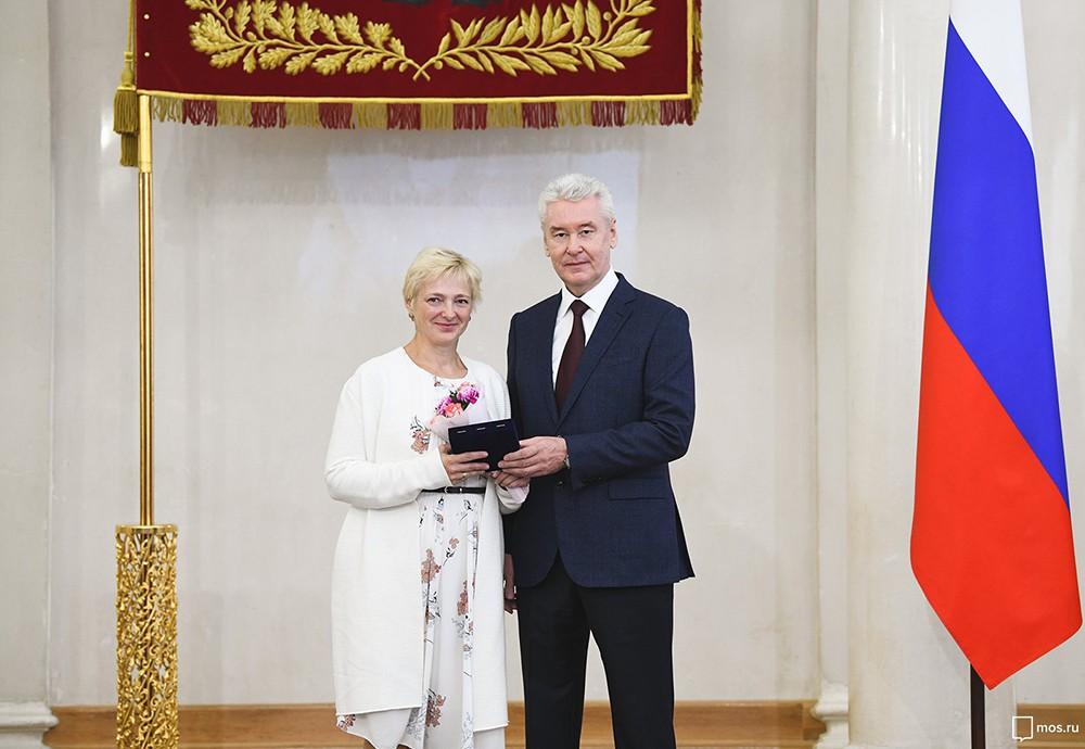 Вручение наград московским преподавателям