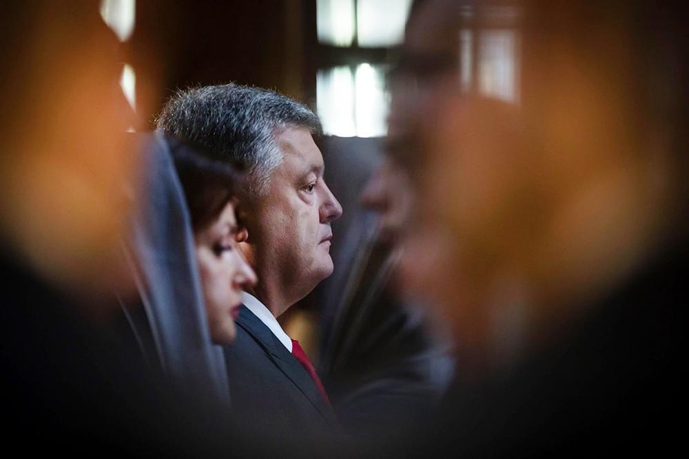 Пётр Порошенко в храме