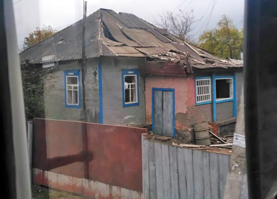 Дома в зоне взрыва боеприпасов на Украине