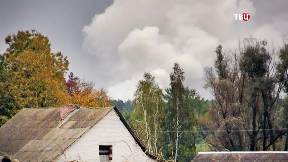 Взрывы боеприпасов в Черниговской области на Украине