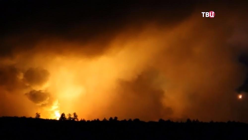 Взрыв боеприпасов на Украине