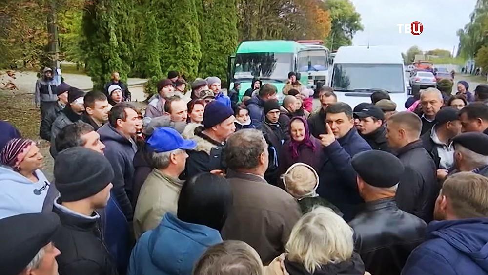 Володимир Гройсман встретился с жителями районов пострадавших при взрыве боеприпасов