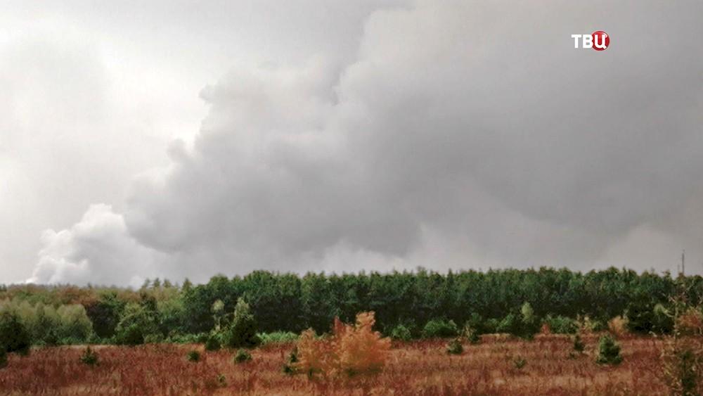 Взрыв боеприпасов в Черниговской области на Украине