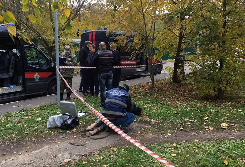 Место убийства старшего следователя полиции