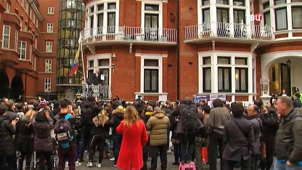 Посольство Эквадора, где скрывается Джулиан Ассанж