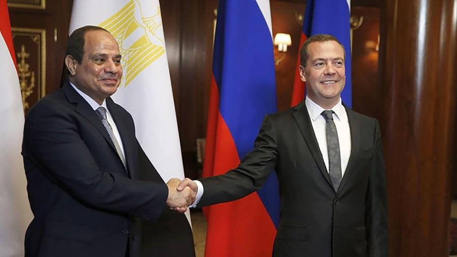 Дмитрий Медведев и Абдельфаттах Сиси