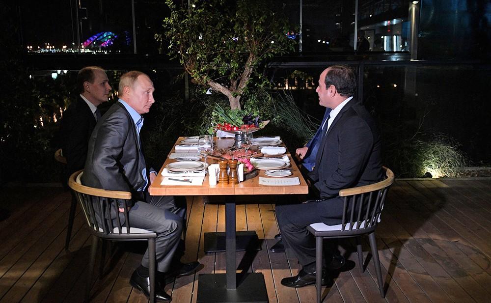 Владимир Путин и Абдельфаттах Сиси в Сочи