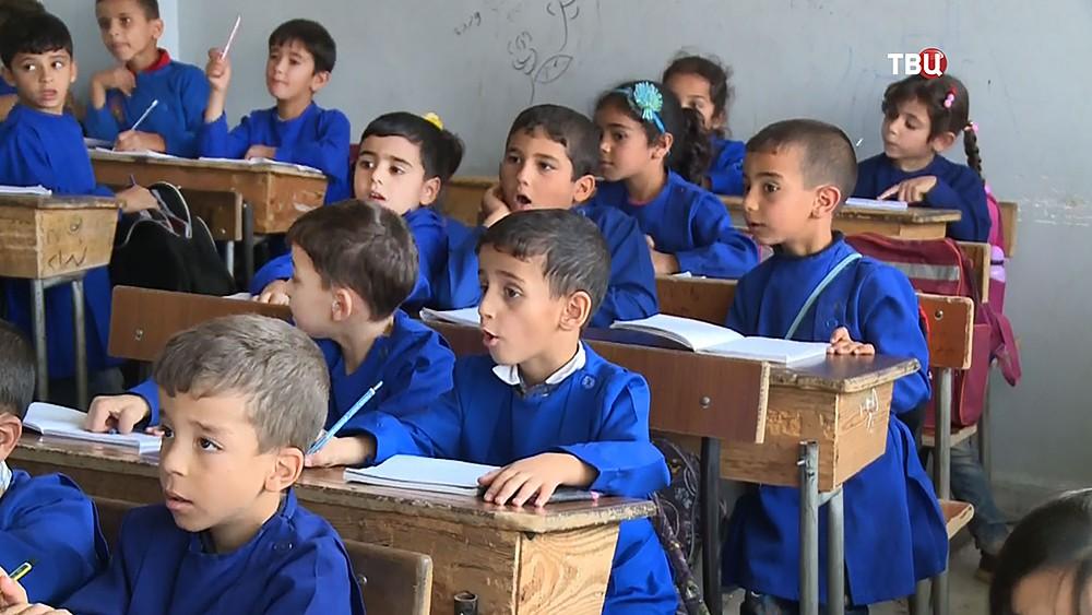 Школьники в Сирии