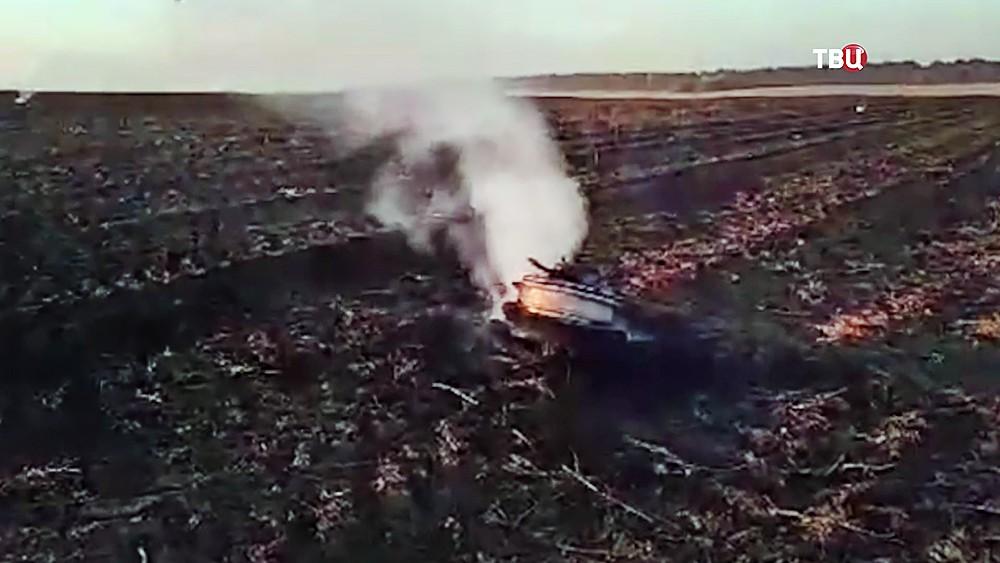 Место падения Су-27 ВВС Украины