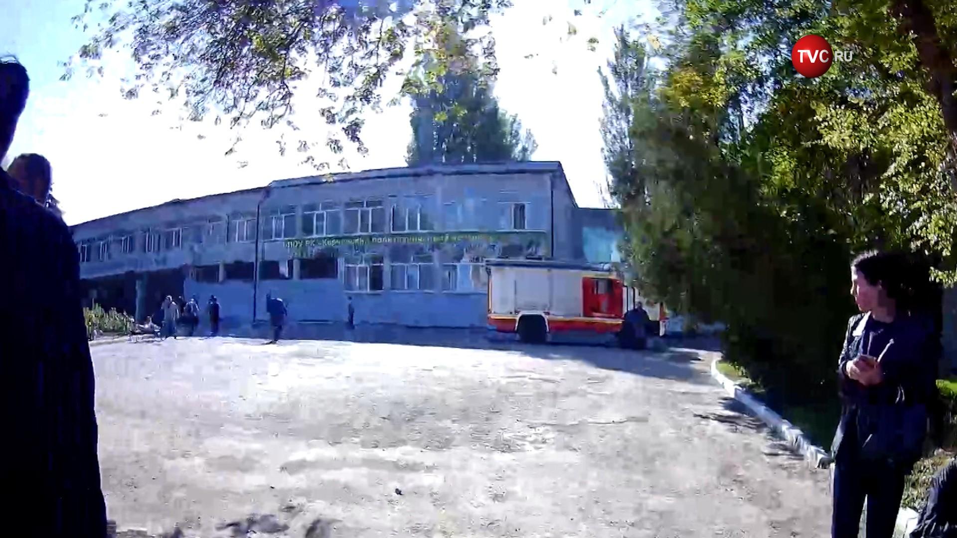 Последствия взрыва в колледже в Керчи