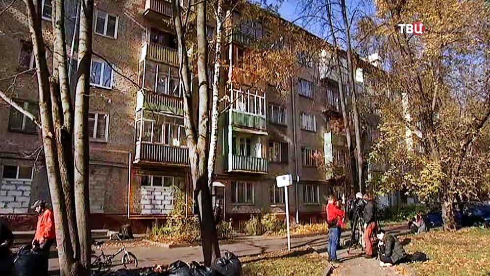 Место тройного убийства в Москве