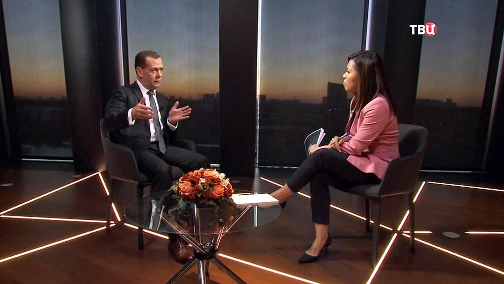 Дмитрий Медведев даёт интервью телеканалу Euronews
