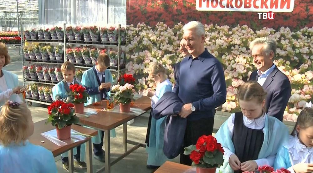 """Сергей Собянин в агрокомбинате """"Московский"""""""