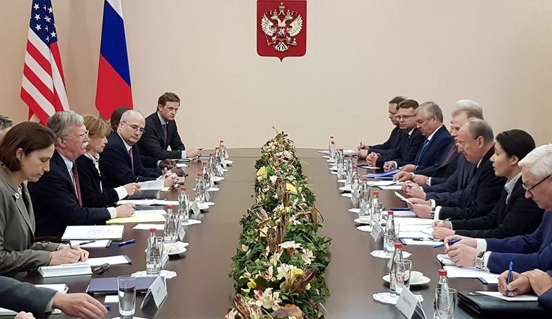 Визит советника президента США по вопросам национальной безопасности Джона Болтона в Россию