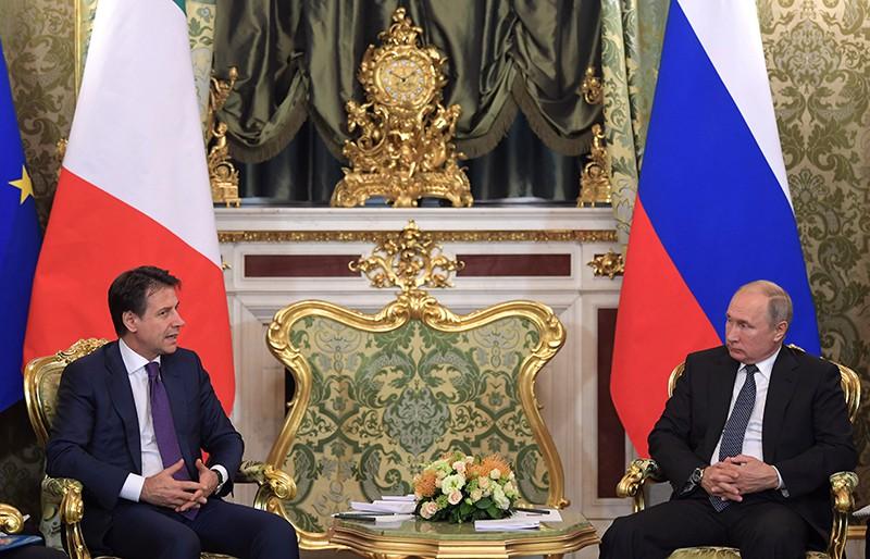 Владимир Путин и премьер-министр Италии Джузеппе Конте