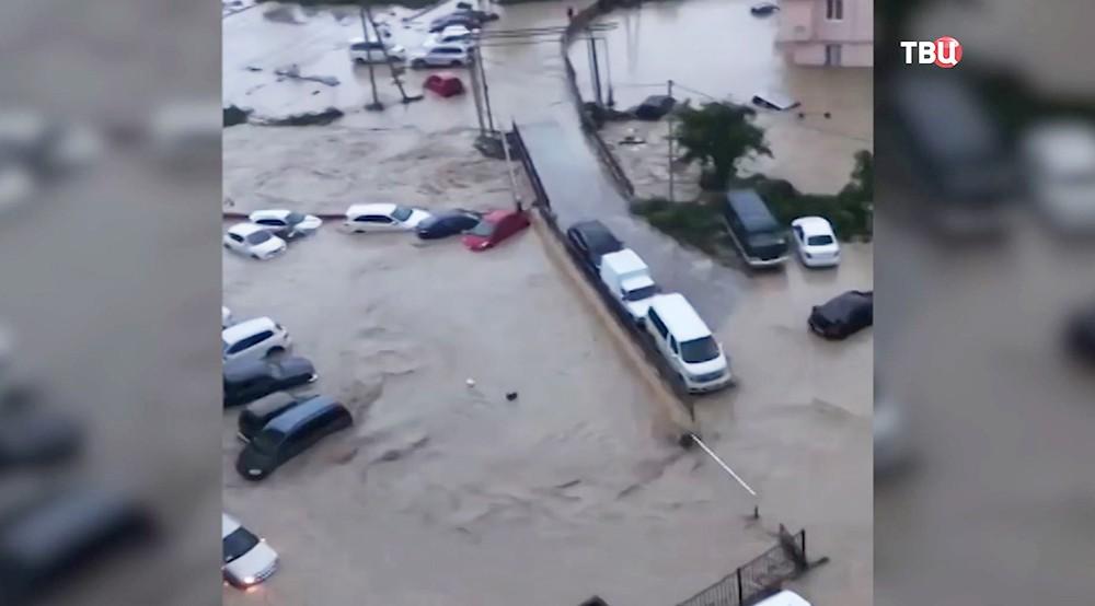 Последствия ливней на Кубани