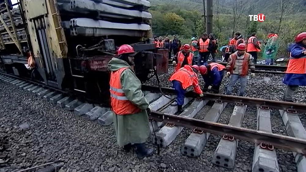 Восстановление железнодорожного сообщения в Краснодаре