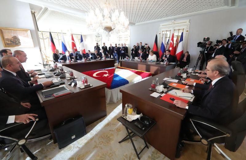 Саммит Россия-Германия-Франция-Турция в Стамбуле
