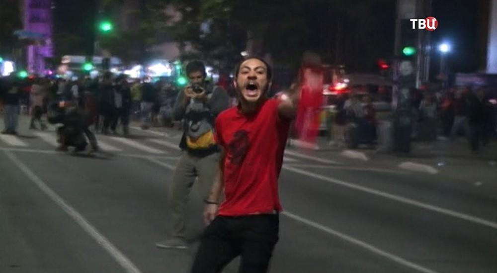 Акция протеста в Бразилии