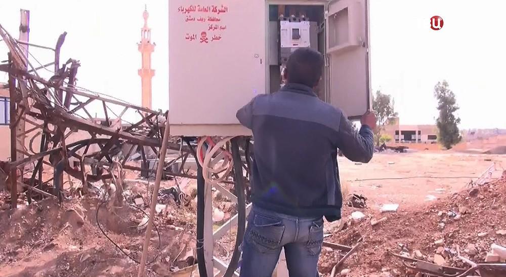 Восстановление поселка Друша в пригороде Дамаска