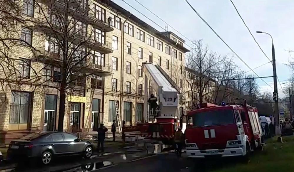"Ликвидация пожара в гостинице ""Останкино"""