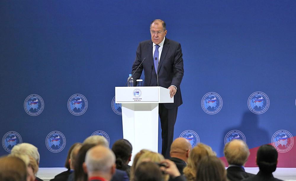 Сергей Лавров на Всемирном конгрессе соотечественников