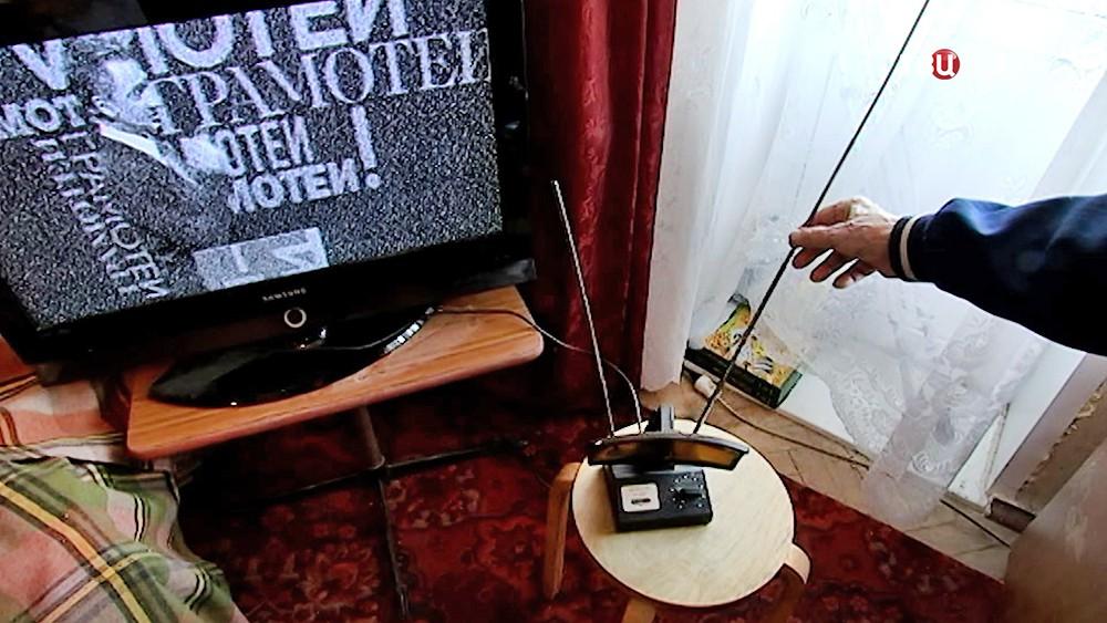 Телевизор показывает аналоговый канал