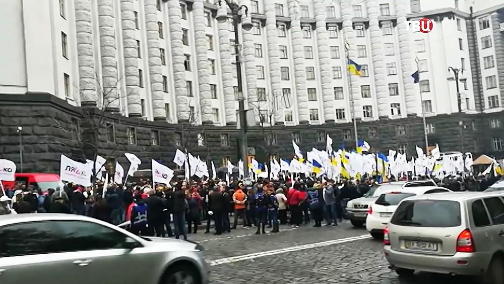 Митинг у здания Кабмина Украины