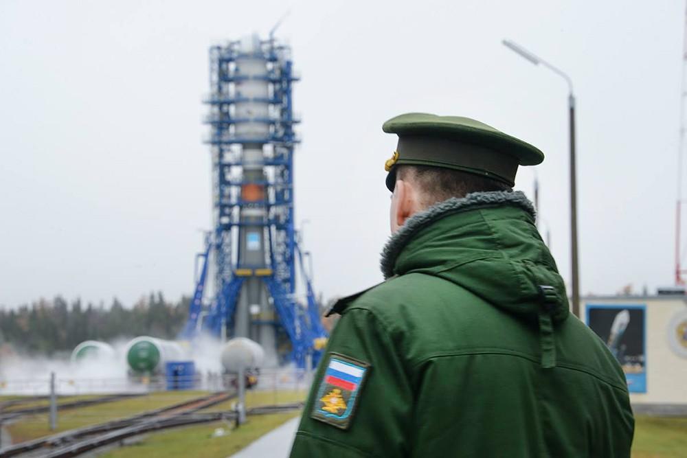 "Ракета-носитель ""Союз"" на космодроме"