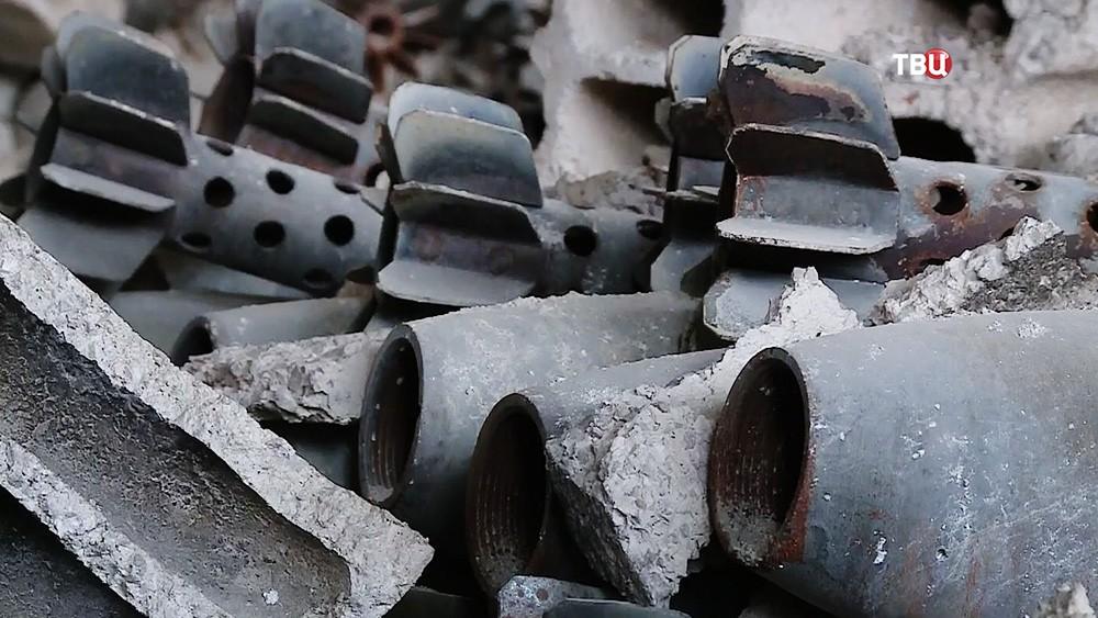 Минометные снаряды в Сирии