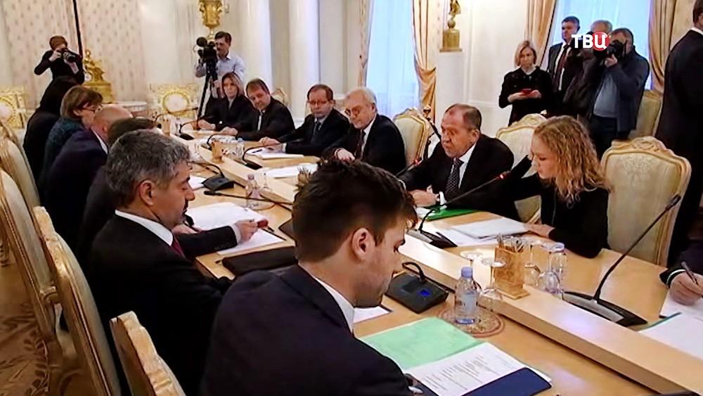 Встреча главы МИД России Сергея Лаврова и генсека ОБСЕ Томаса Гремингера