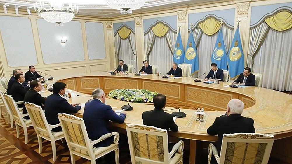 Встреча глав делегаций государств – участников СНГ с президентом Казахстана Нурсултаном Назарбаевым