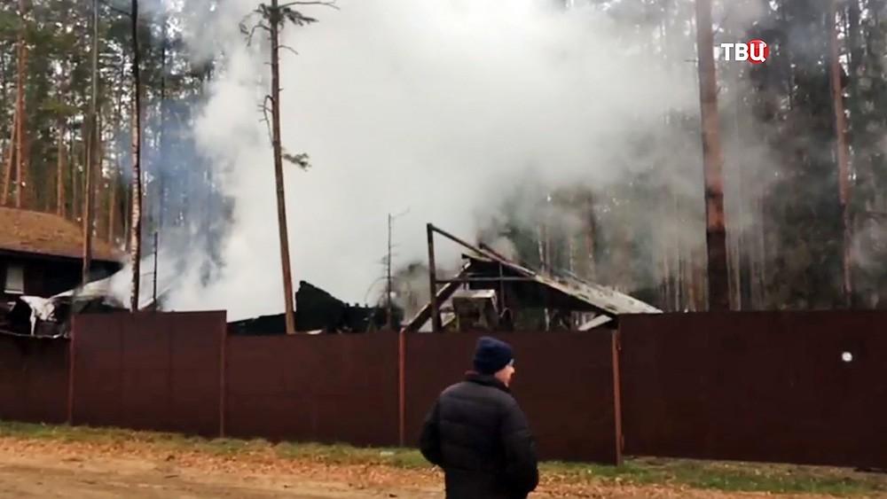 Пожар на нижегородской базе отдыха