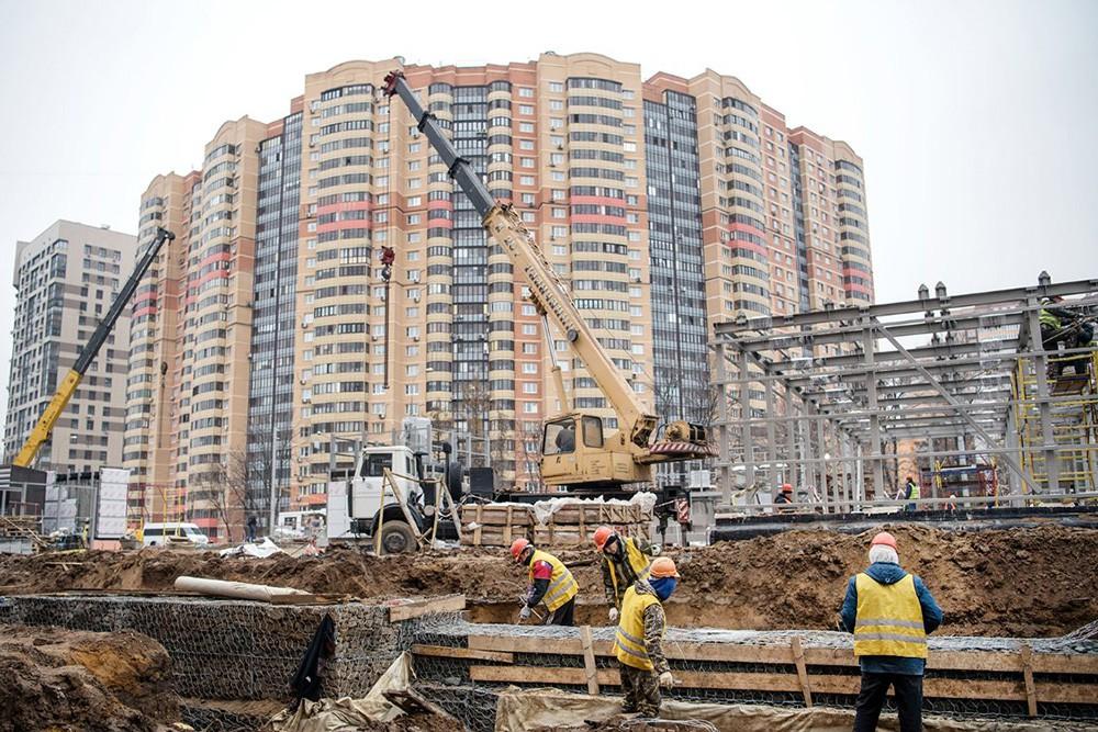 """Строительство станции метро """"Беломорская"""""""
