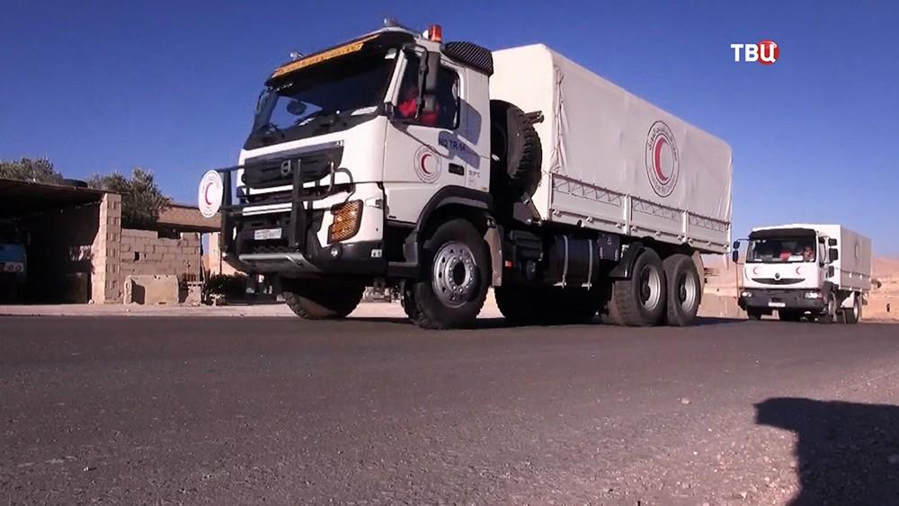 Машины Красного полумесяца в Сирии
